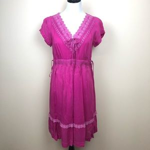 Johnny Was Collection fuchsia dress size small